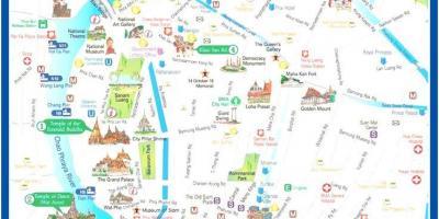 Karta Centrala Thailand.Bangkok Map Kartor Bangkok Thailand